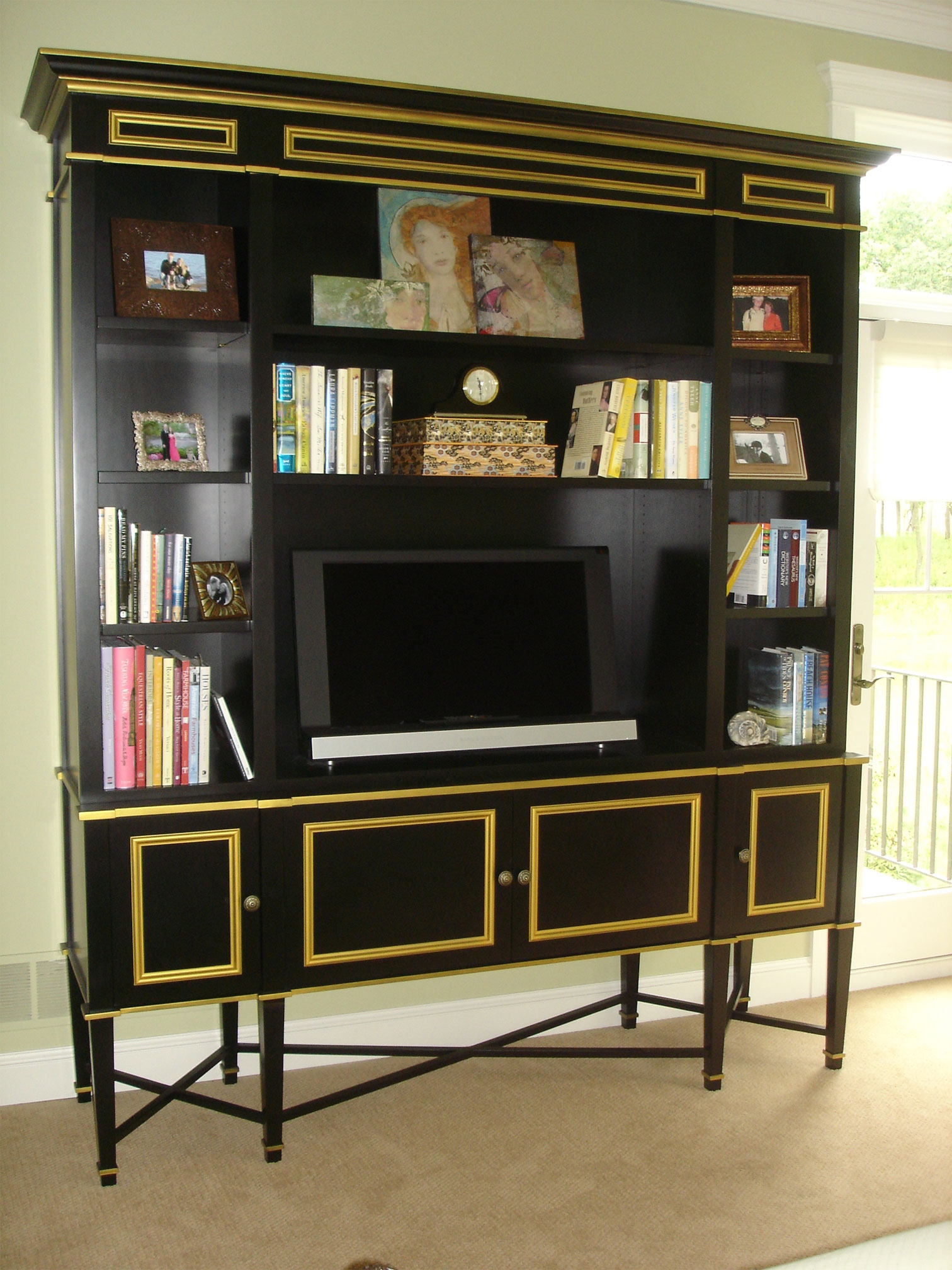 Black and gold furniture black u0026 gold av cabinet and furniture