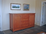 Reclaimed fir TV lift cabinet (closed)