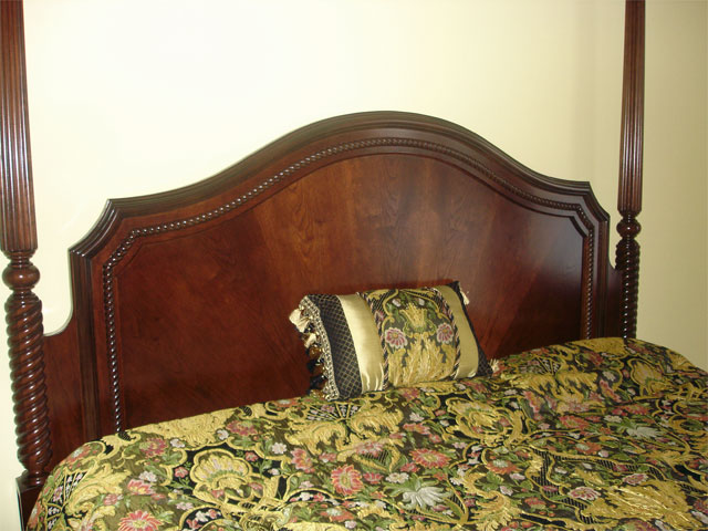 Cherry canopy bed headboard