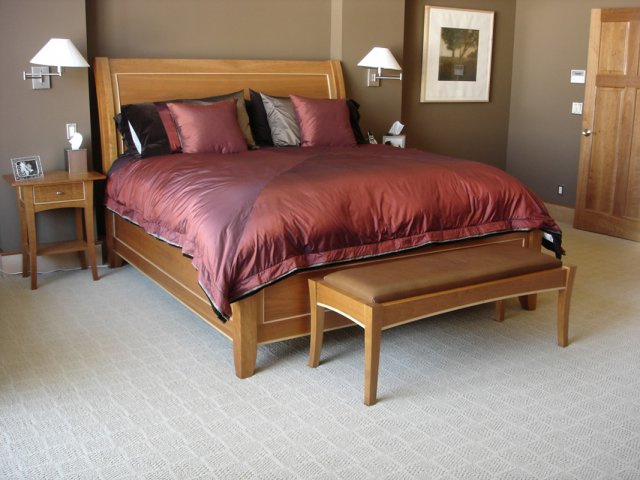 Cherry & maple king size bed