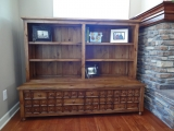 """""""Apothecary"""" fireplace cabinetry"""