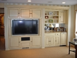 Painted and glazed AV cabinets