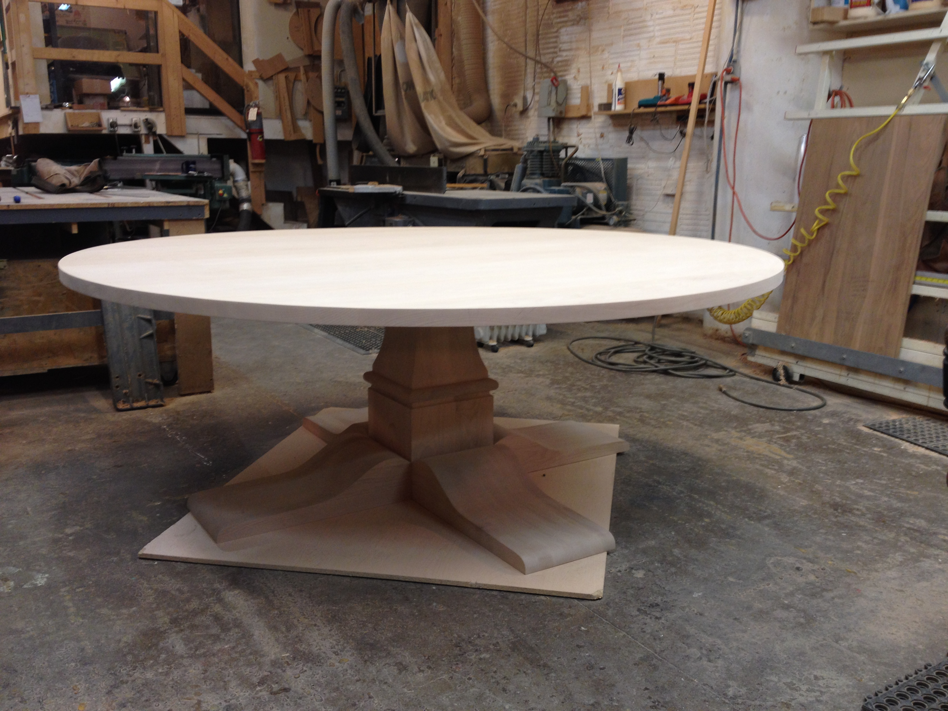 "Alder 84"" diameter dining table"