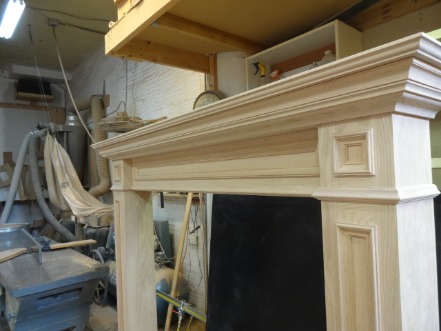 Oak mantel