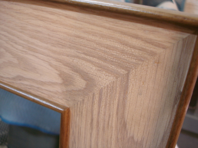 Mirror frame (finish detail)