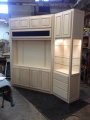 Maple media/display cabinetry