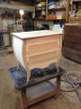 Curved nightstand