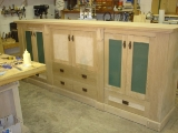 Arts & Crafts audio-visual cabinet