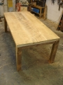 Reclaimed rustic pine dining table