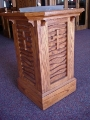 Red oak baptismal font