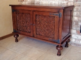 Carved entry chest