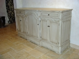Crackled and glazed credenza