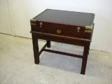 Mahogany chest / end table