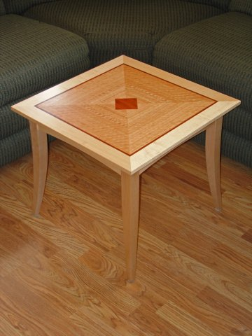 Eucalyptus and maple end table