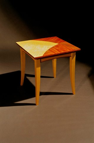 Maple & marquetry end table