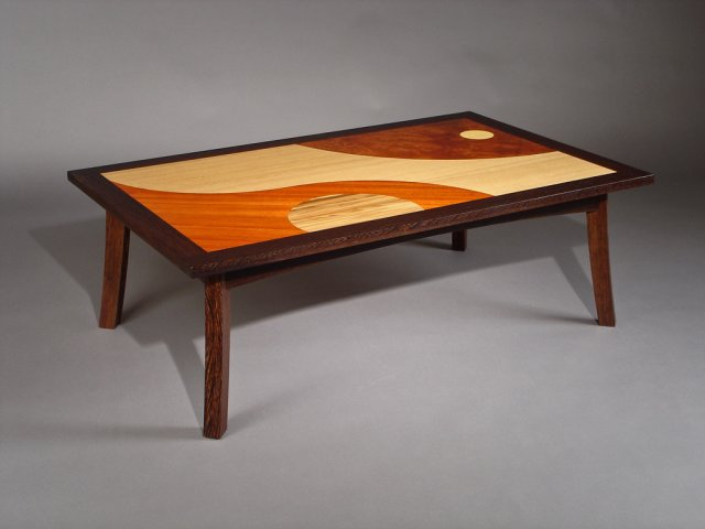 Marquetry cocktail table