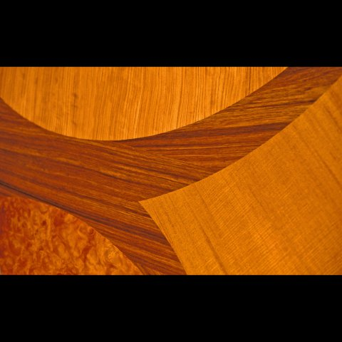 Textured marquetry table (detail)