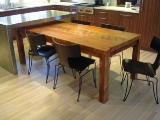 Rustic reclaimed pine dining table