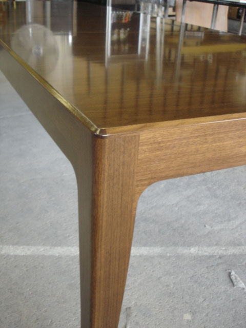 Walnut expanding dining table (detail)
