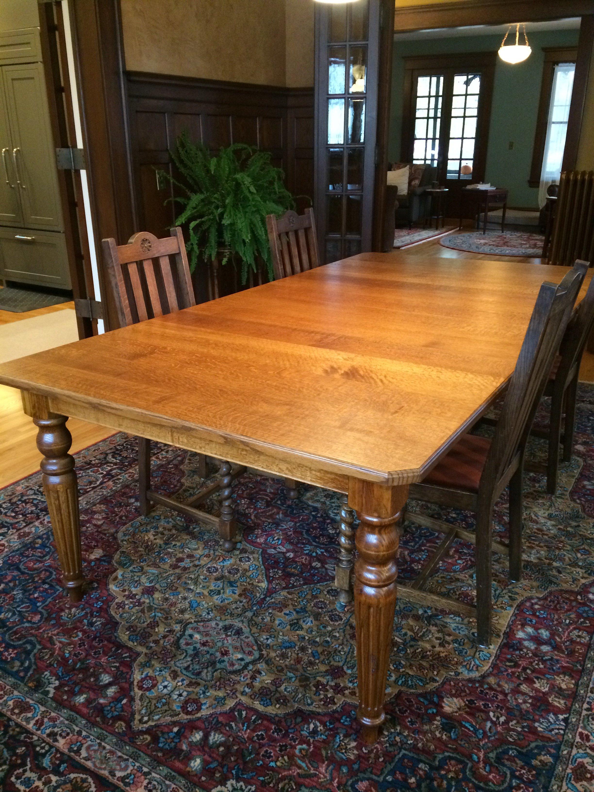Marvelous Quarter Sawn Oak Dining Table